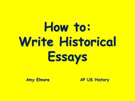 Essay writing for history